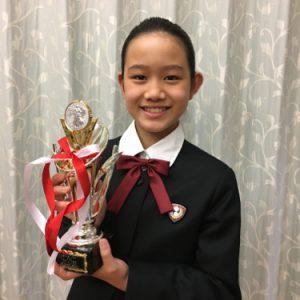 卒園生が全国ジュニア英語スピーチコンテストにて優秀賞を受賞されました!