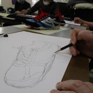 靴を描きました!